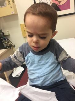 At his check up a week later.